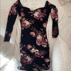 Off Shoulder flowered dress